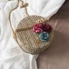 sac en osier rond à bandoulière - Flower Bag
