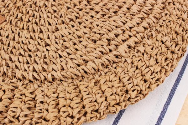 sac osier à bandoulière - Decontracted Style détail paille