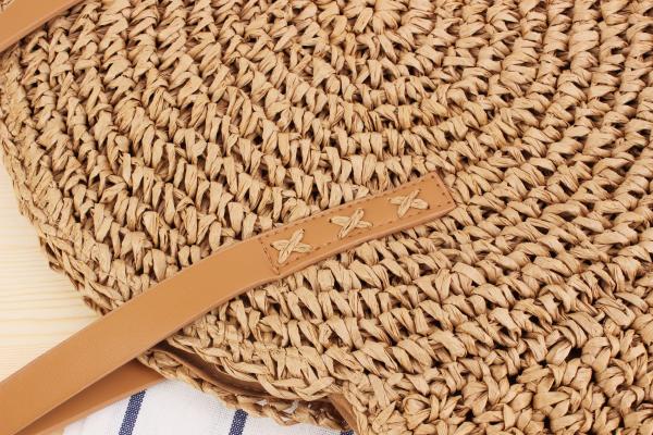 sac osier à bandoulière - Decontracted Style détails couture