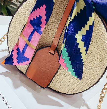 sac osier à bandoulière - Multicolors Bag détails