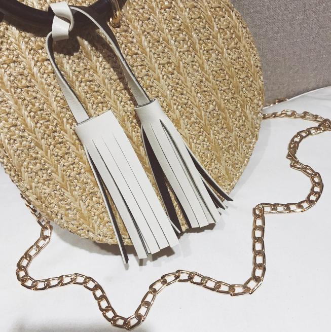 sac osier rond à bandoulière - Chic & Choc décor