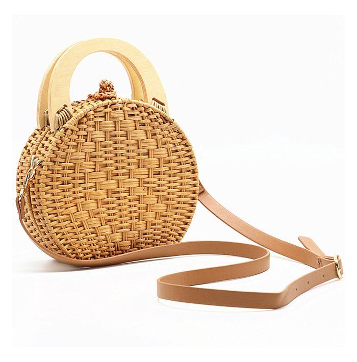 sac osier rond à bandoulière - Circle Bag bandoulière