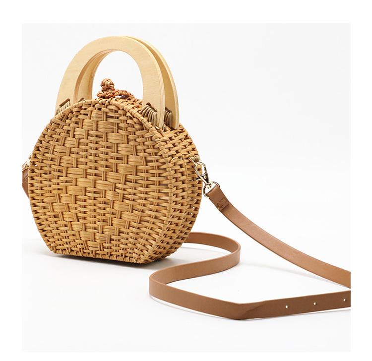 sac osier rond à bandoulière - Circle Bag