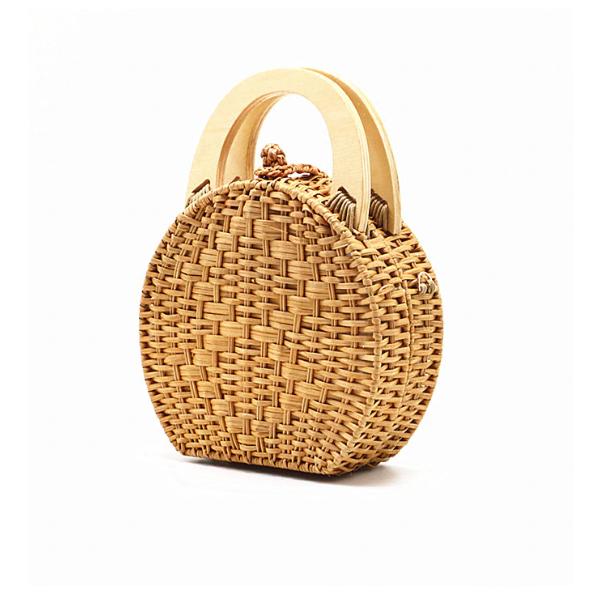 sac osier rond à bandoulière - Circle bag sans bandoulière