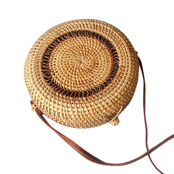sac osier rond bandoulière - Bali Design