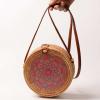 sac osier rond à bandoulière - big mandala