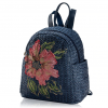 Sac à dos en osier - Flower Style bleu saphir