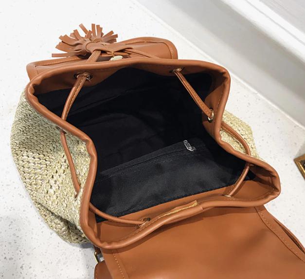 sac à dos osier - pompom bag intérieur