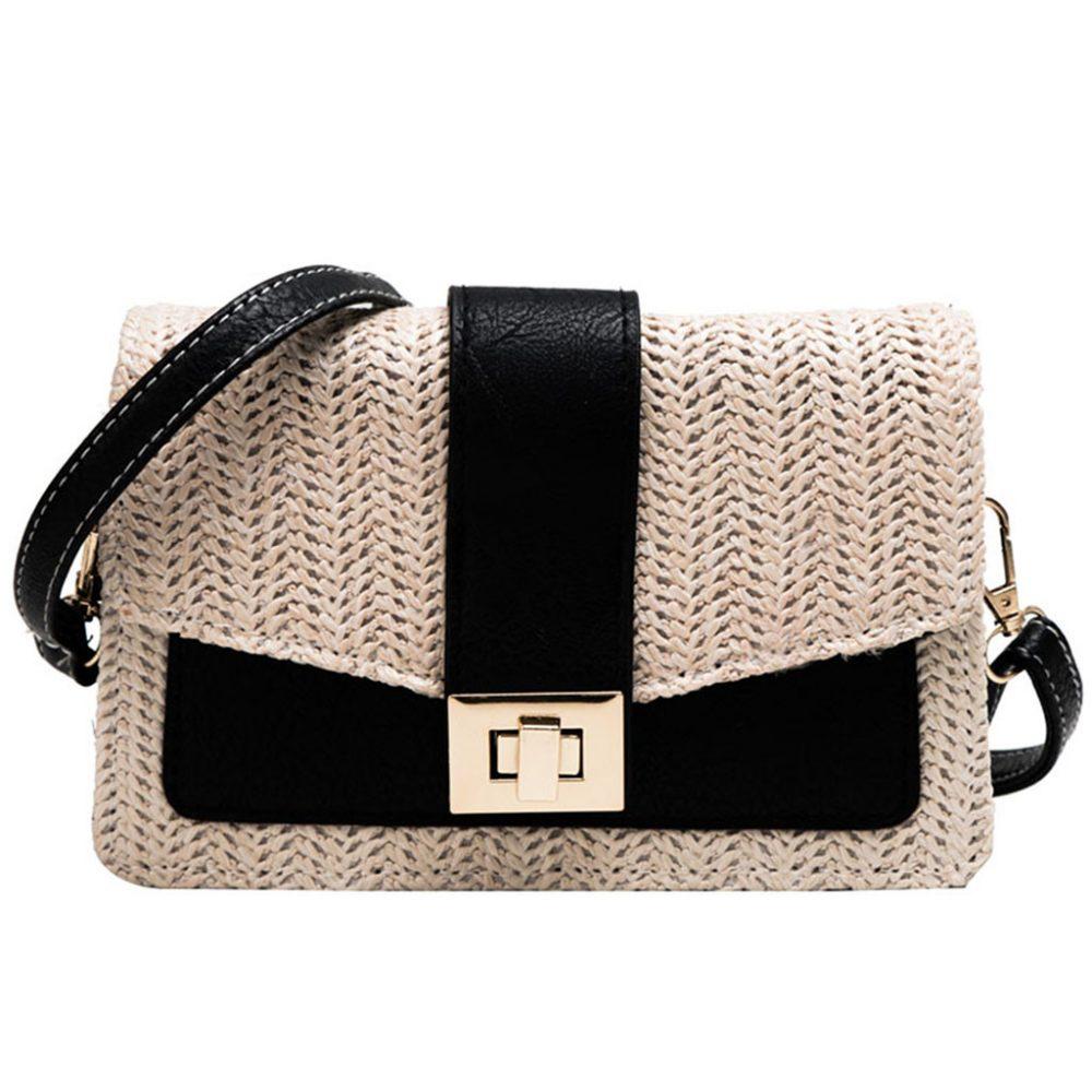 sac osier carré class bag noir
