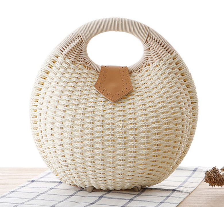 sac en osier - Balloon Form blanc