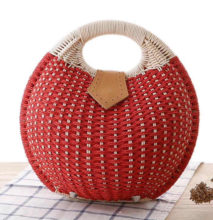 sac en osier - Balloon Form rouge