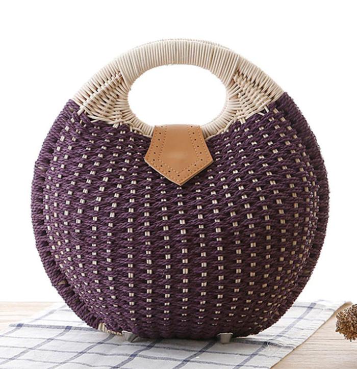 sac en osier - Balloon Form violet