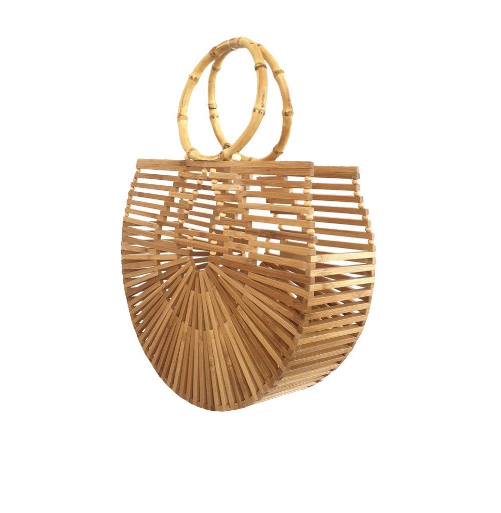 sac osier de plage - bamboo style M