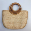 sac osier de plage - circle bag