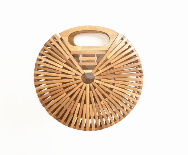 sac osier rond - bamboo style M